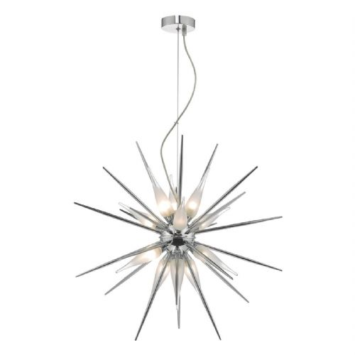Vasiliy 12lt Pendant Polished Chrome & Glass (double insulated) BXVAS1250-17